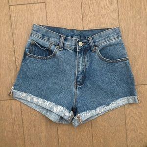 Brandy Melville High-Wasted Denim Shorts